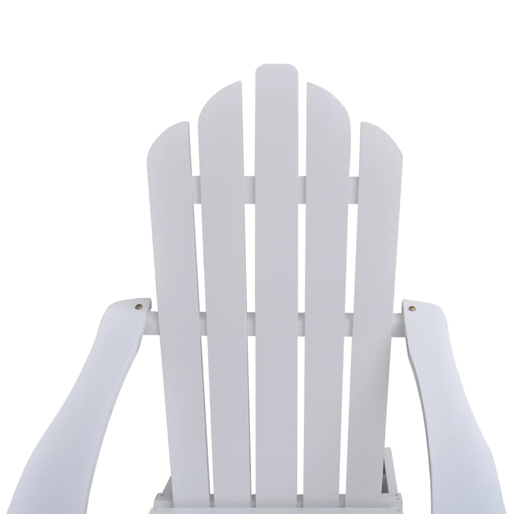 vidaXL-Garden-Chair-with-Ottoman-Wood-White-Outdoor-Patio-Seating-Lounger thumbnail 6