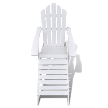 Wood Chair with Ottoman/Stool White[2/10]