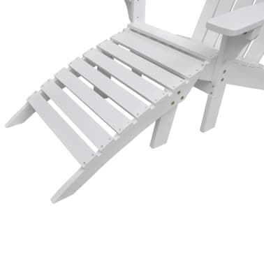 Wood Chair with Ottoman/Stool White[5/10]