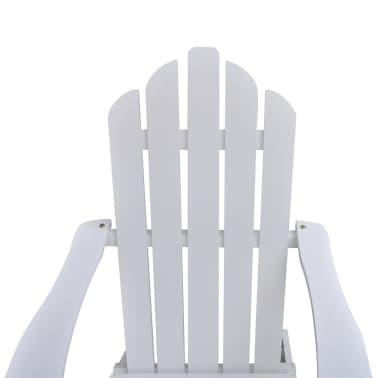 Wood Chair with Ottoman/Stool White[6/10]