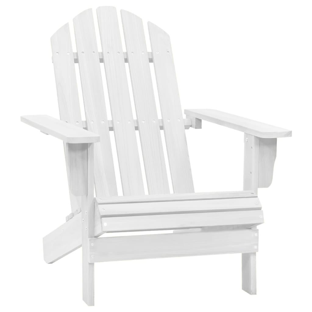 vidaXL Zahradní křeslo dřevěné bílé