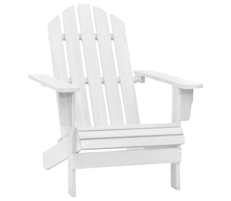Wood Chair Living Room Garden Chair White[1/5]