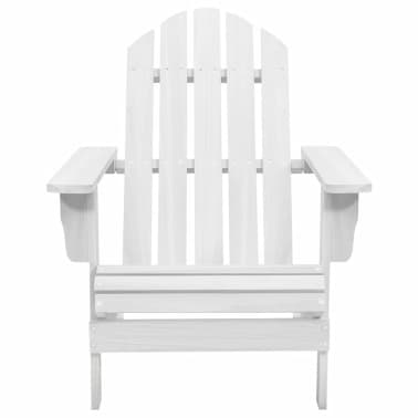 Wood Chair Living Room Garden Chair White[2/5]