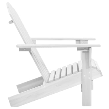 Wood Chair Living Room Garden Chair White[4/5]