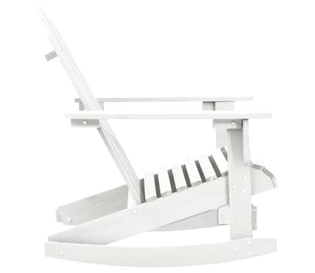 Wood Rocking Chair White[3/6]