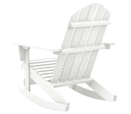 Wood Rocking Chair White[4/6]