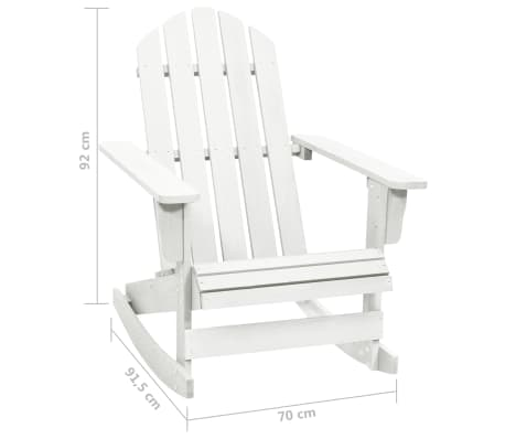 Wood Rocking Chair White[6/6]