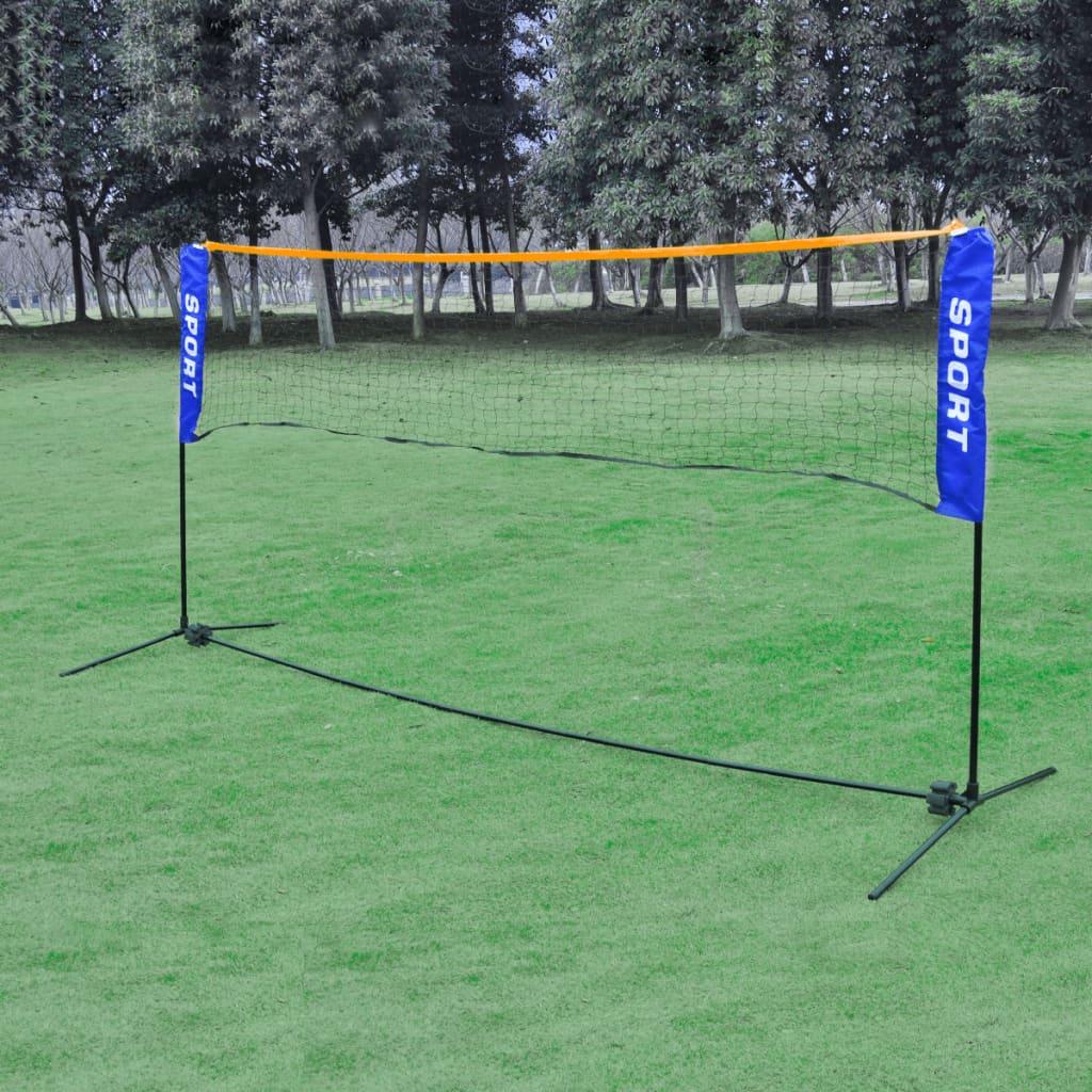 Plasă volei/badminton/tenis portabilă, cu geantă, 420 x 155 cm poza vidaxl.ro