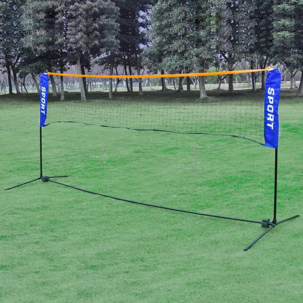 Plasă volei/badminton/tenis portabilă, cu geantă, 500 x 155 cm poza vidaxl.ro