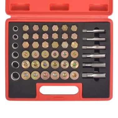 vidaXL Kit de réparation de filetage de bouchon de vidange d