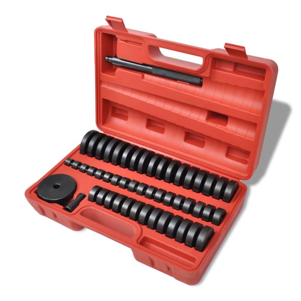 Set adaptat discuri /bucșe / rulmenți / garnituri 18 – 65 mm 51 piese vidaxl.ro