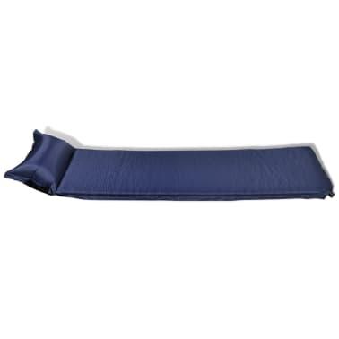 Colchón De Aire 6 x 66 x 200 cm Azul Almohada Inflable[3/6]