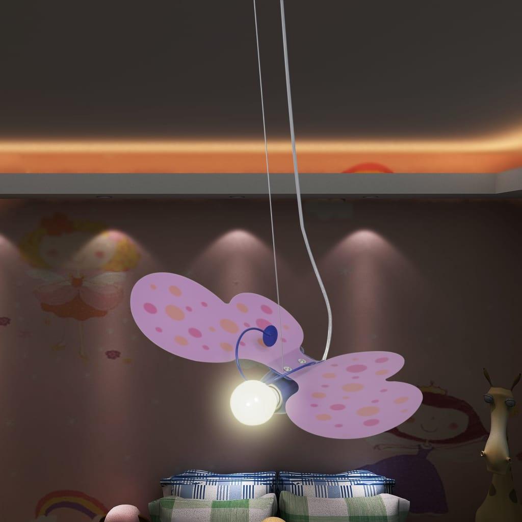 Dětské stropní svítidlo závěsné ve tvaru motýla