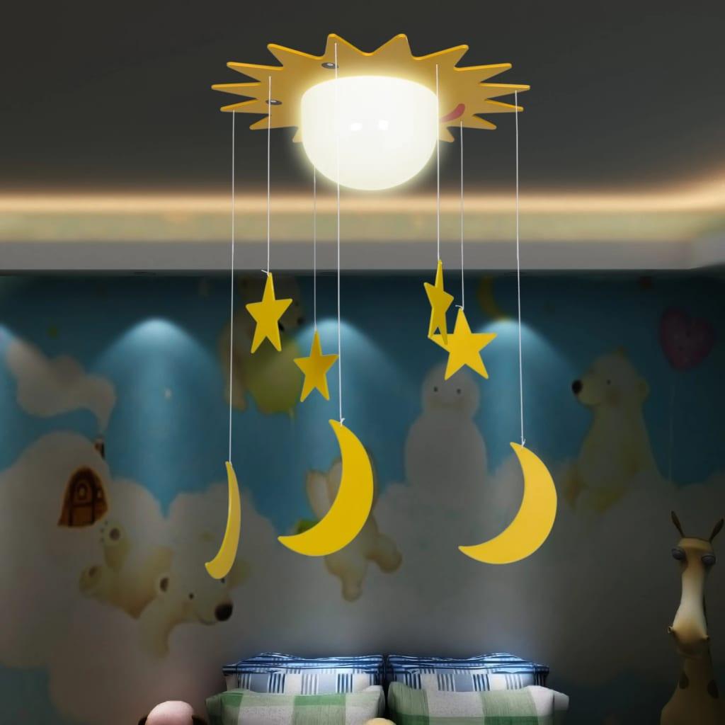 Lustră copii, model lună și stele poza vidaxl.ro