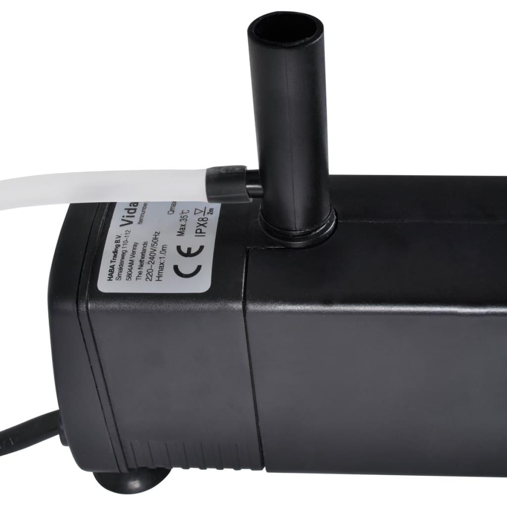 Pompa do akwarium z filtrem węglowym (600 l/h)