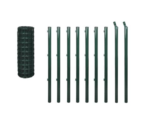vidaXL Euro tvoros komplektas, žalias, 10x1m, plienas[2/3]