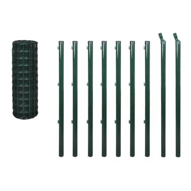 vidaXL Euro tvoros komplektas, žalias, 10x1m, plienas[3/3]