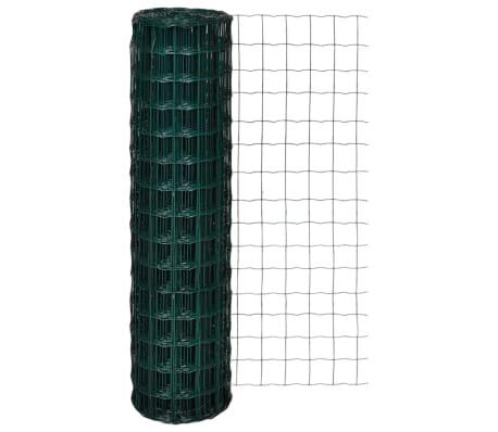 vidaXL Euro tvoros komplektas, žalias, 10x1,5m, plienas