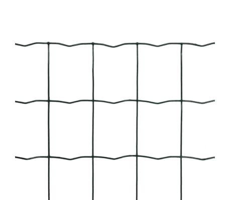 vidaXL Euro Fence Steel PVC Wire Netting Mesh Poultry Chicken Coop ...