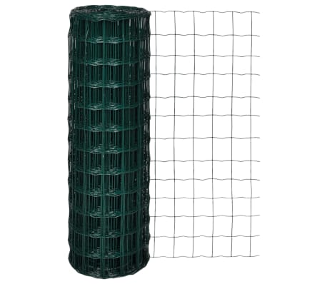 vidaXL Euro Fence Steel 25x1.2 m Green