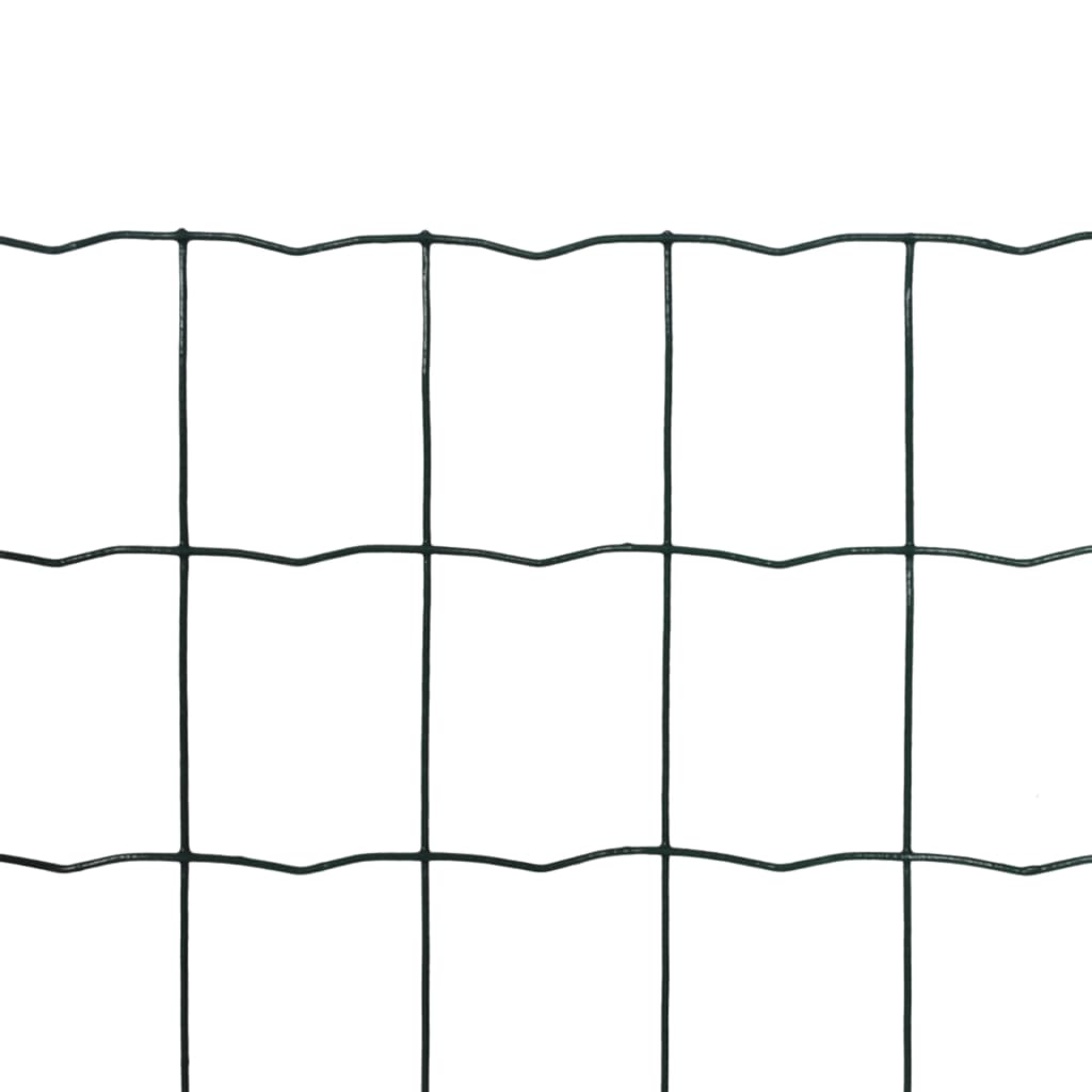 vidaXL Euro hek 25x1,0 m staal groen