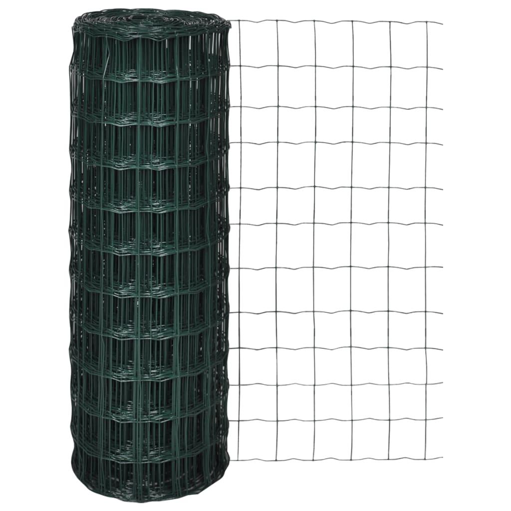 Grillage Jardin Hauteur 2M clôture euro acier 25 x 1,2 m vert - 140592