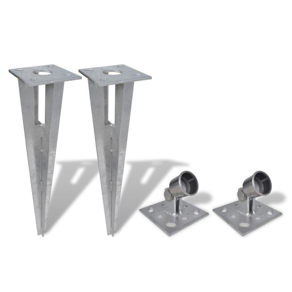 vidaXL Držáky pro plotové vzpěry 2 ks ocel
