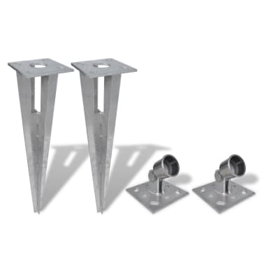 vidaXL Strive Post Spikes 2 pcs Steel[1/6]