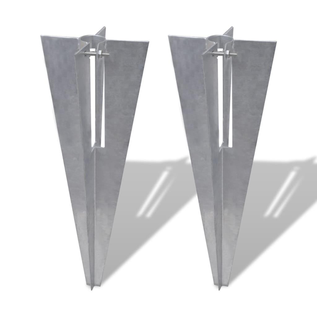 vidaXL Držáky pro plotové sloupky 2 ks ocel