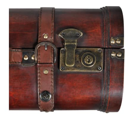 vidaXL Wooden Treasure Chest 2 pcs Vintage Brown[6/7]