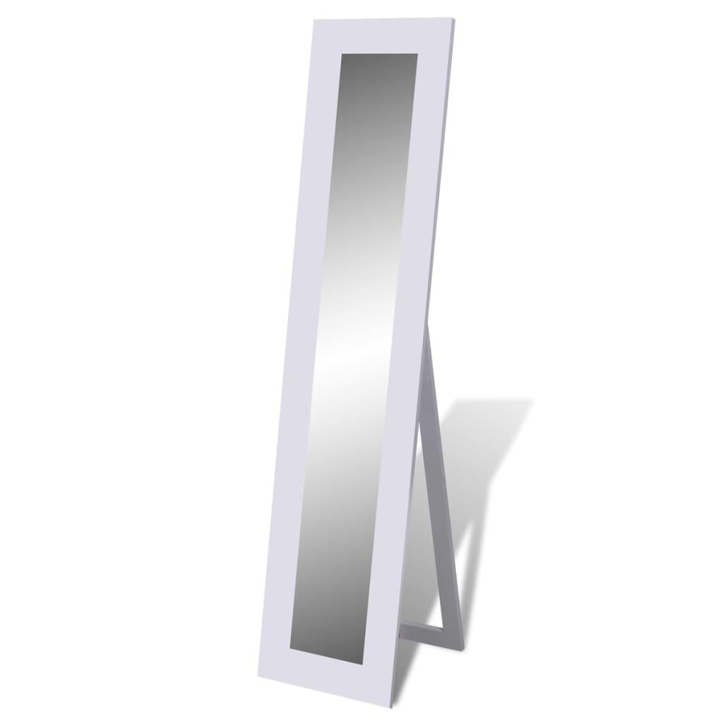 Volně stojící podlahové obdélníkové zrcadlo bílá barva