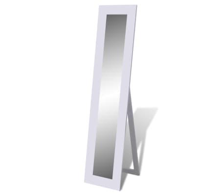 Full Length Dressing Mirror Free Standing White 150cm Freestanding ...