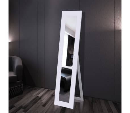 Free Standing Mirror Full Length White[2/6]