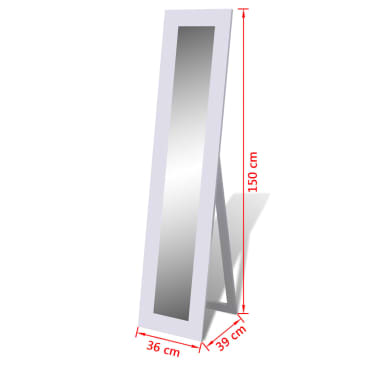 Free Standing Mirror Full Length White[6/6]