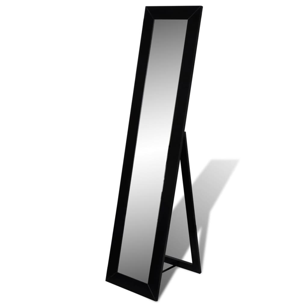 Samostatně stojící zrcadlo na zobrazení celé postavy, černé