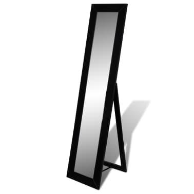 vidaXL Vrijstaande spiegel volledige lengte zwart[1/6]
