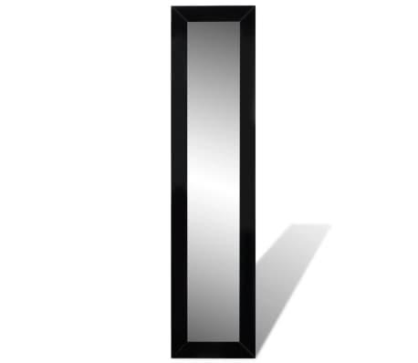 vidaXL Vrijstaande spiegel volledige lengte zwart[3/6]