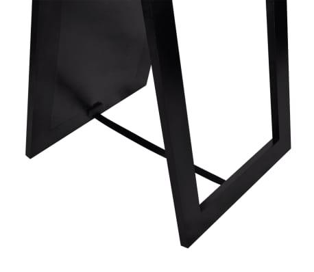 vidaXL Vrijstaande spiegel volledige lengte zwart[5/6]