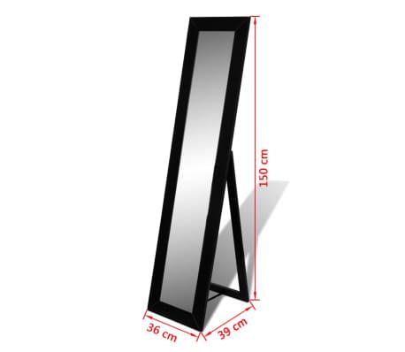 vidaXL Vrijstaande spiegel volledige lengte zwart[6/6]