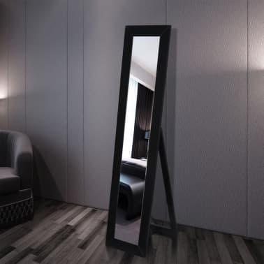 vidaXL Vrijstaande spiegel volledige lengte zwart[2/6]