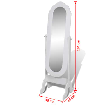 miroir en pied blanc pivotant. Black Bedroom Furniture Sets. Home Design Ideas