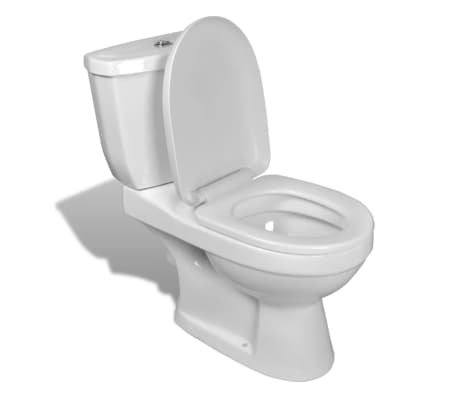 Bílé WC s cisternou