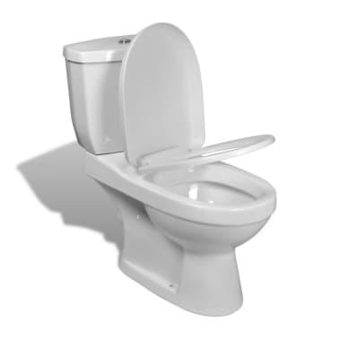 design stand toilette wc bodenstehend keramik wei g nstig kaufen. Black Bedroom Furniture Sets. Home Design Ideas