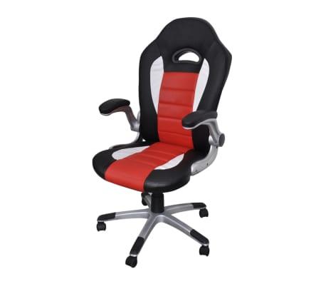 Modernaus Dizaino, Dirbtinės Odos Biuro Kėdė, Raudona