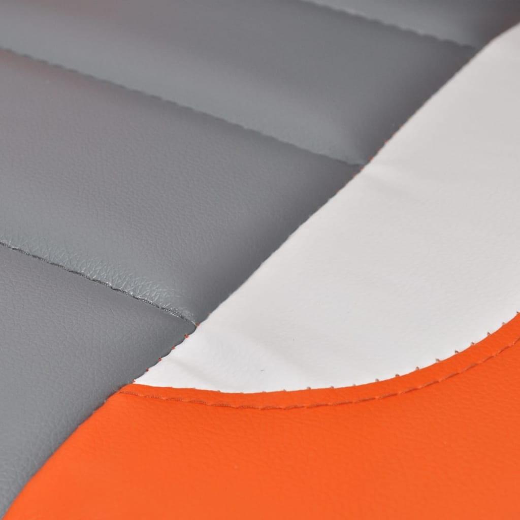 8718475857143 g en hd 2 - vidaXL Silla de Oficina de Cuero Diseño Moderno Naranja Silla oficina giratoria