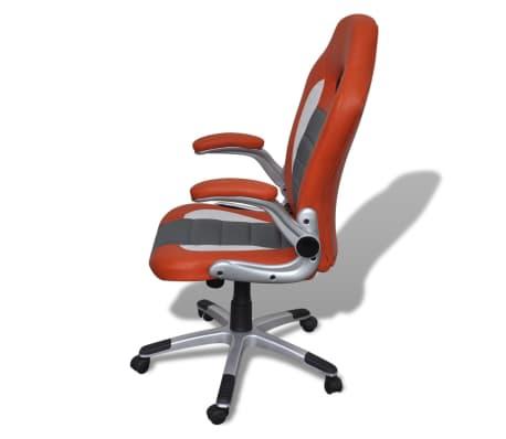 Fauteuil en similicuir moderne de bureau design orange[5/7]