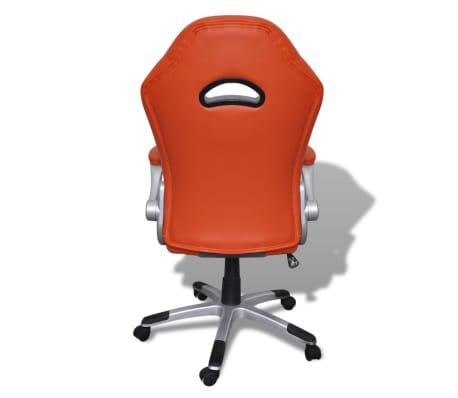 Fauteuil en similicuir moderne de bureau design orange[6/7]