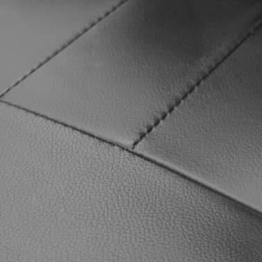 Bureaustoel leer met exclusief design zwart 59 x 51 x 81-89 cm[4/5]