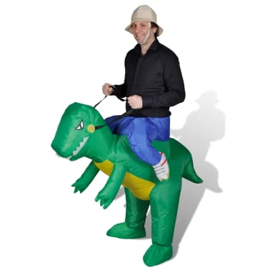 Надуваем костюм динозавър[2/2]