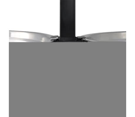 vidaXL Justerbar ställning & 2 x 2,6 L matskålar i rostfritt stål[4/7]